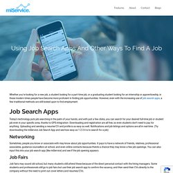 Find Student Jobs with Job Search Apps from miService