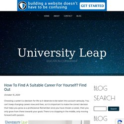 How To Find A Suitable Career For Yourself? Find Out