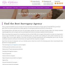 Best Surrogate Agencies