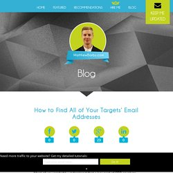 How to Find All of Your Targets' Email Addresses