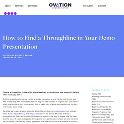 How to Find a Throughline in Your Demo Presentation