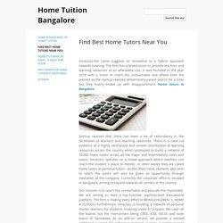Find Best Home Tutors Near You