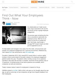Find Out What Your Employees Think - Now