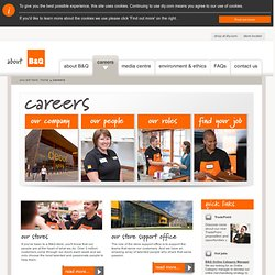Find Your Job - Careers - B&Q Corporate