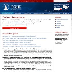 Write Your Representative - Contact your Congressperson in the U.S. House of Representatives.