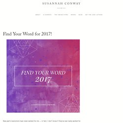 Find Your Word for 2017!