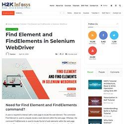 Find Element and FindElements in Selenium WebDriver - H2kinfosys Blog