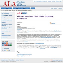 YALSA's New Teen Book Finder Database announced