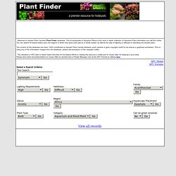Plant Finder - Encyclopedia of Aquarium Plants