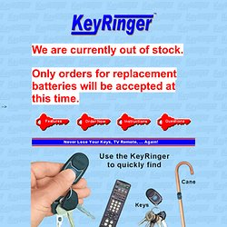 #1 Lost Key Finder & Remote Control Locator