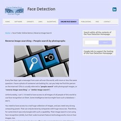 Online Face Finders & reverse image searching