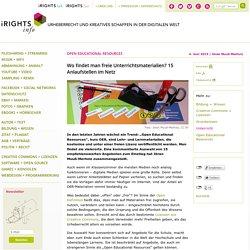 Wo findet man freie Unterrichtsmaterialien? 15 Anlaufstellen im Netz – iRights.info