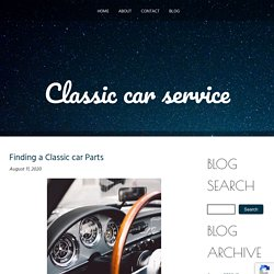 Finding a Classic car Parts
