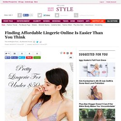 Finding Affordable Lingerie Online Is Easier Than You Think