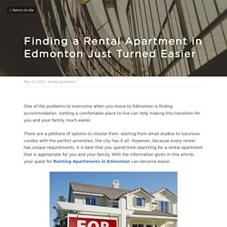 Finding a Rental Apartment in Edmonton Just Turned Easier