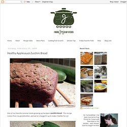 Healthy Applesauce Zucchini Bread