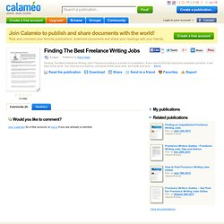 Finding The Best Freelance Writing Jobs