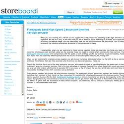Finding the Best High Speed Centurylink Internet Service provi...