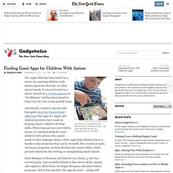 Finding Good Apps for Children With Autism