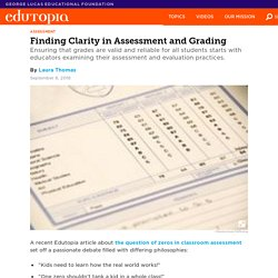 Finding Clarity in Assessment and Grading