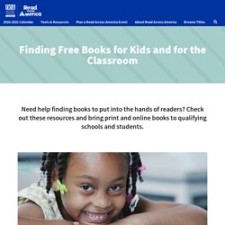 Finding Free Books for Kids and for the Classroom - Read Across America