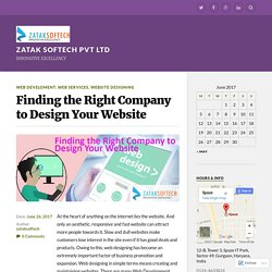 Finding the Right Company to Design Your Website