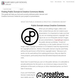 Images - Finding Public Domain & Creative Commons Media