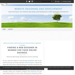 Finding a Web Designer in Mumbai for your Online Business