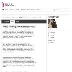 Finding out Designer Clothes For Sale Online - Emma Swan
