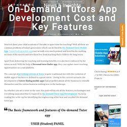 Tutors Finding Mobile App Development Cost and Key Features