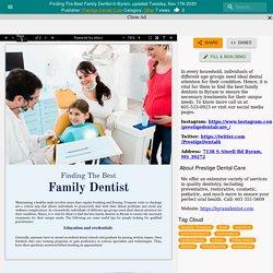Finding The Best Family Dentist In Byram