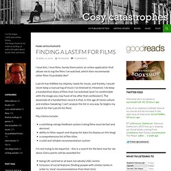 Finding a Last.fm for films « Cosy catastrophes