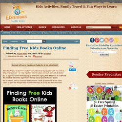 Finding Free Kids Books Online