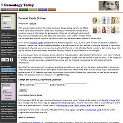 Finding Funeral Cards Online for your Genealogy