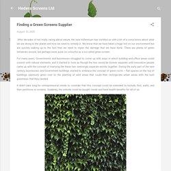 Finding a Green Screens Supplier