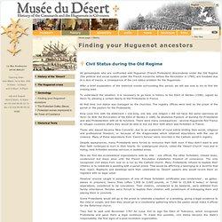 Le Musée du Désert - Finding your Huguenot ancestors