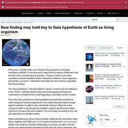New finding may hold key to Gaia hypothesis