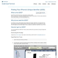 Finding Your iPhone's Unique Identifier (UDID) - iPhone How To Docs - innerfence