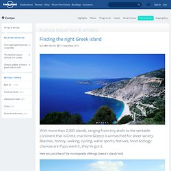 Finding the right Greek island