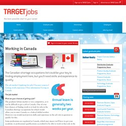 Finding jobs and work experience in Canada