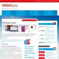 Finding jobs and work experience in Japan