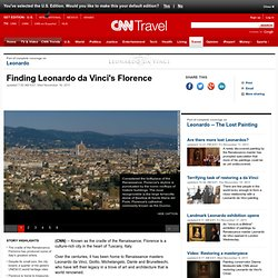 Finding Leonardo da Vinci's Florence