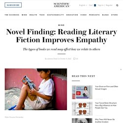 Novel Finding: Reading Literary Fiction Improves Empathy
