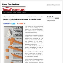 Finding the Correct Moulding Angles at An Irregular Corner