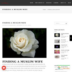 Finding A Muslim Wife