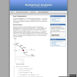 Root Finding Method « Numerical Analysis