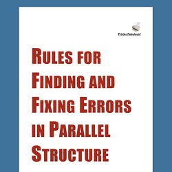Rules for Finding and Fixing Errors in Parallel Structure