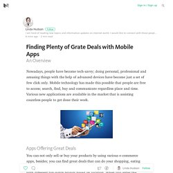 Finding Plenty of Grate Deals with Mobile Apps