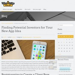 Finding Potential Investors for Your New App Idea