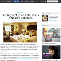 Finding best price hotel deals in Nassau Bahamas